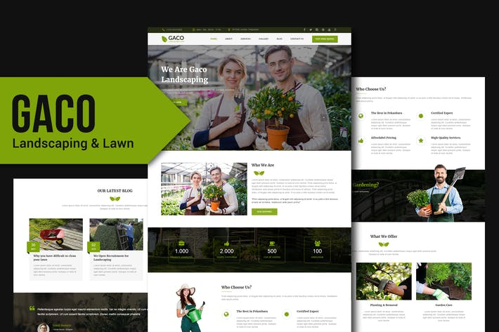 Thumbnail for Gaco - Landscaping & Gardening Muse Template YR