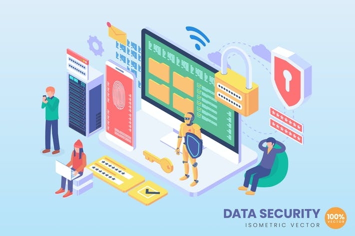 Thumbnail for Isometric Data Security Vector Concept