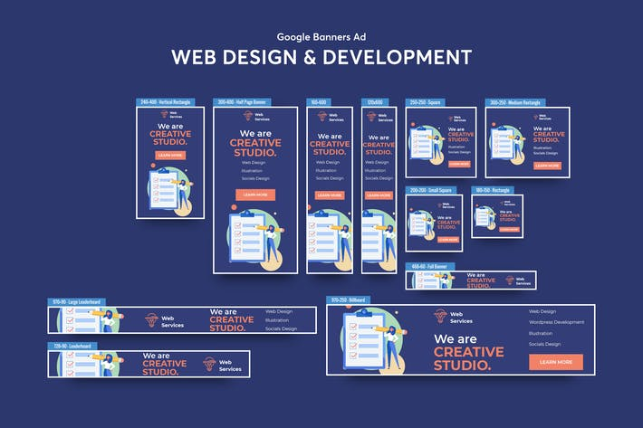 Thumbnail for Web Design & Development Services Banners Ad