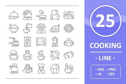 Kochen Icons - Linie