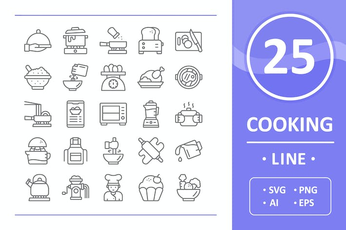 Cooking Icons - Line