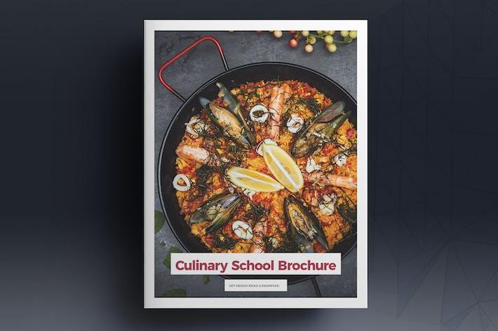Modèle de brochure de l'école culinaire