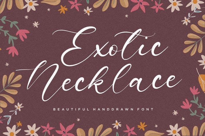 Thumbnail for Exotic Necklace Font YH
