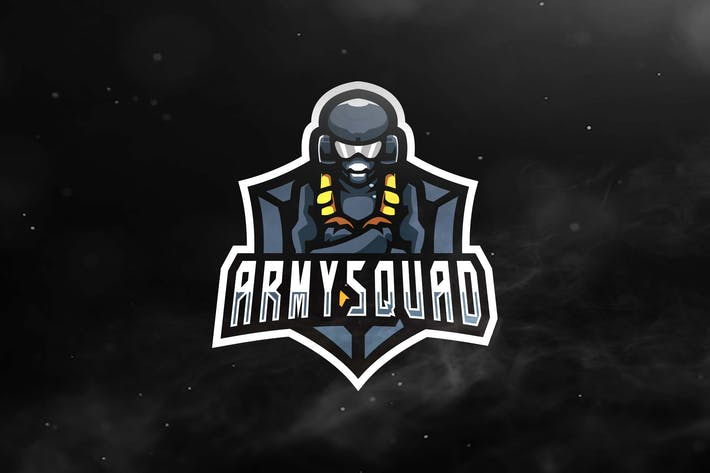 Thumbnail for Army Squad Sport and Esports Logos