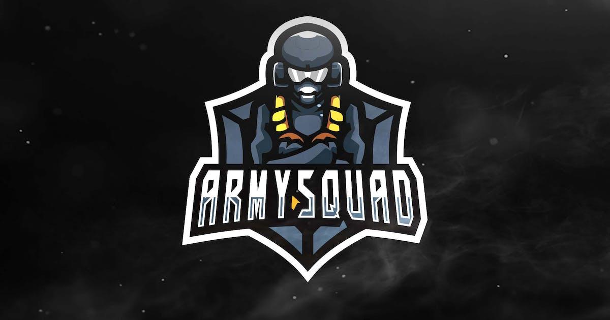 Army Squad Sport and Esports Logos by ovozdigital