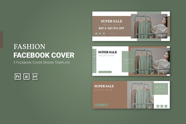 Fashion - Facebook Cover Template