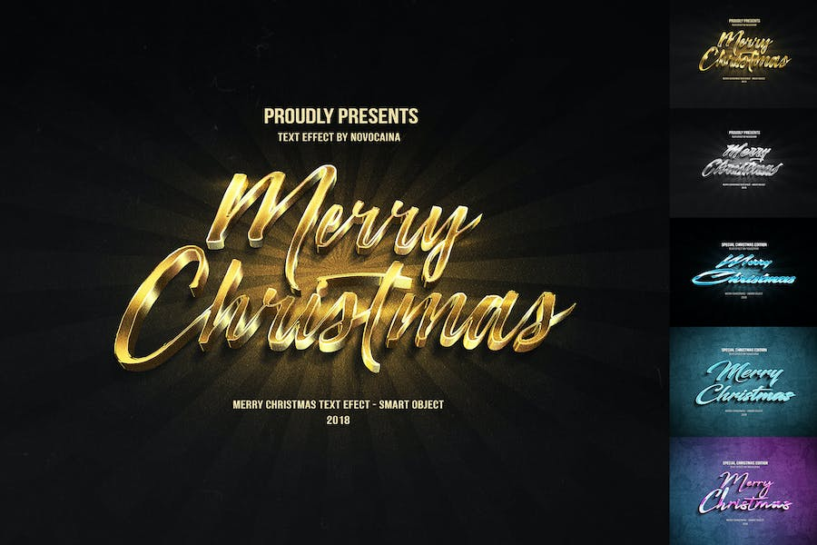 Christmas Text Effects