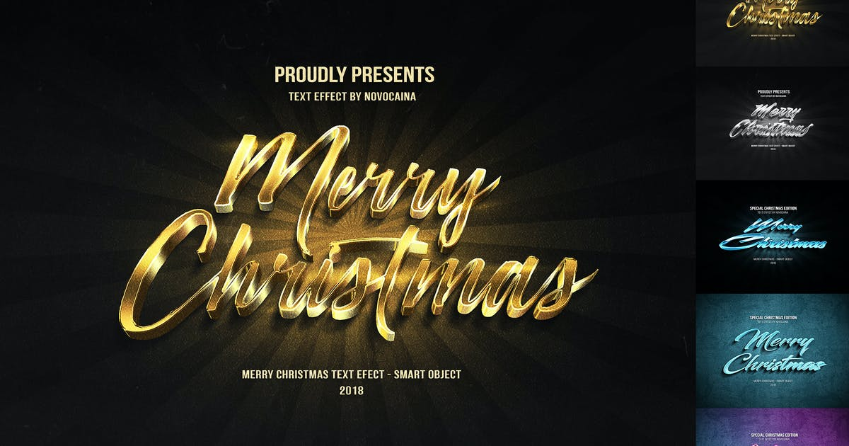 Download Christmas Text Effects by Novocaina