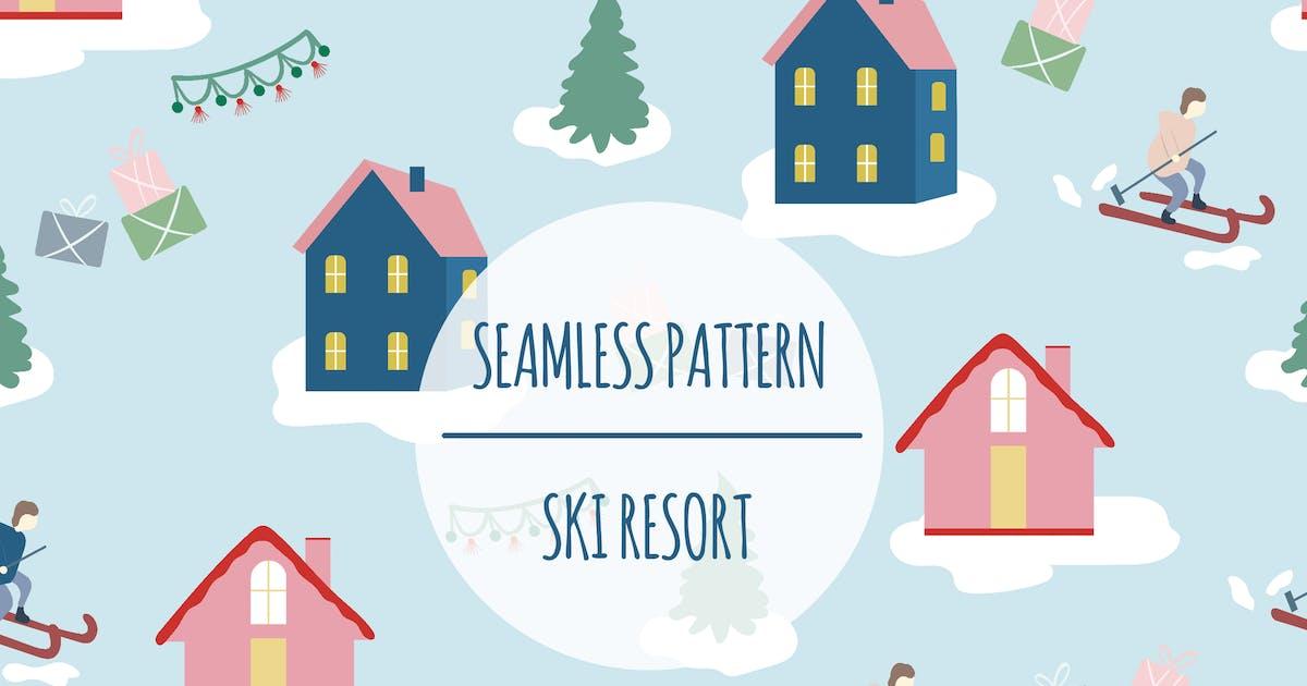 Download Ski Resort – Seamless Pattern by designesto