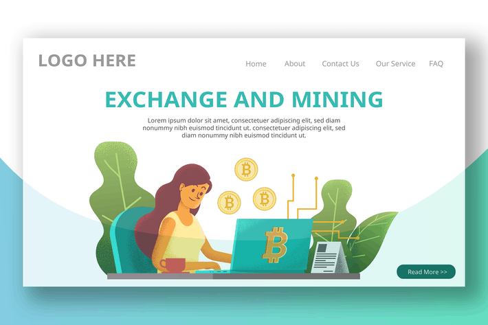 Thumbnail for Cryptocurrency Exchange - Landing Page