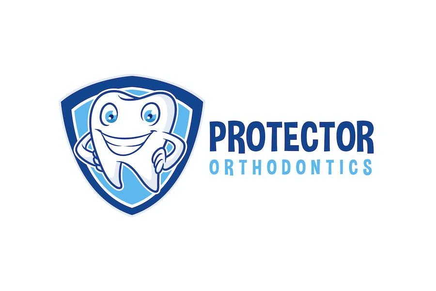 Tooth Protector - Dental Character Mascot Logo