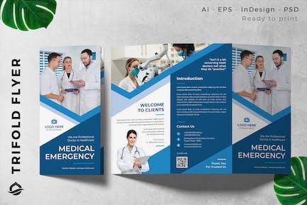 Medical Emergency Center Trifold Brochure Flyer