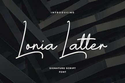 Letra lonia clásica firma