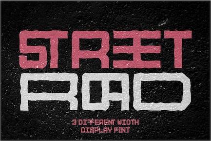 Street Road - Width Display Font