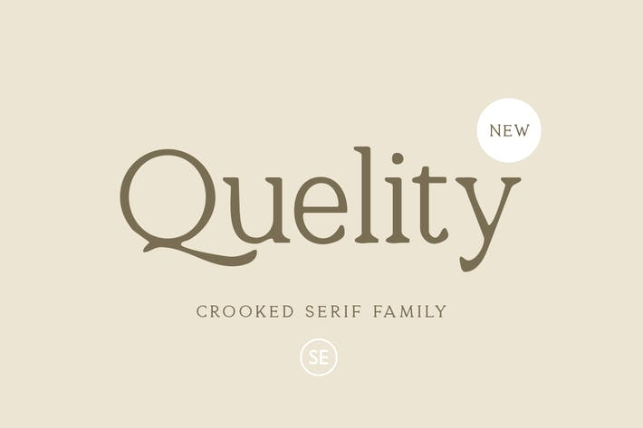 Thumbnail for Quelity - Crooked Serif Font