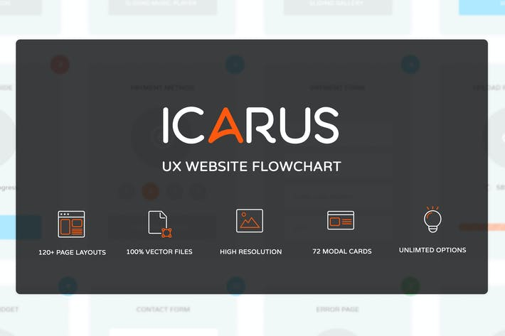Thumbnail for Icarus - UX Website Flowchart