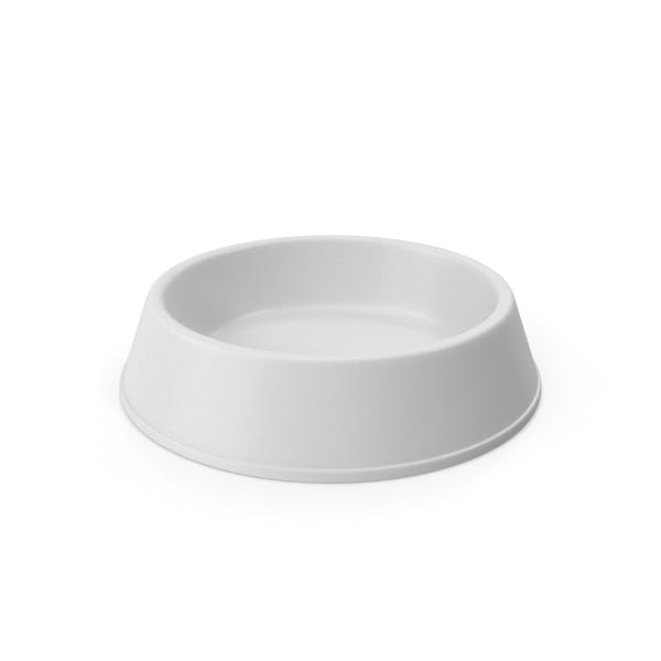 Pet Food Bowl White