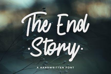 The End Story – Handwritten Font