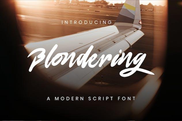 Blonderng Modern Script Font