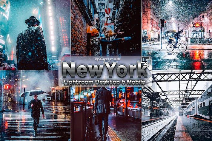 Thumbnail for Нью-Йорк Зимний Пресеты Lightroom Телефон и ПК