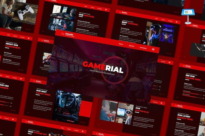 Игровой — Шаблон PowerPoint для киберспорта