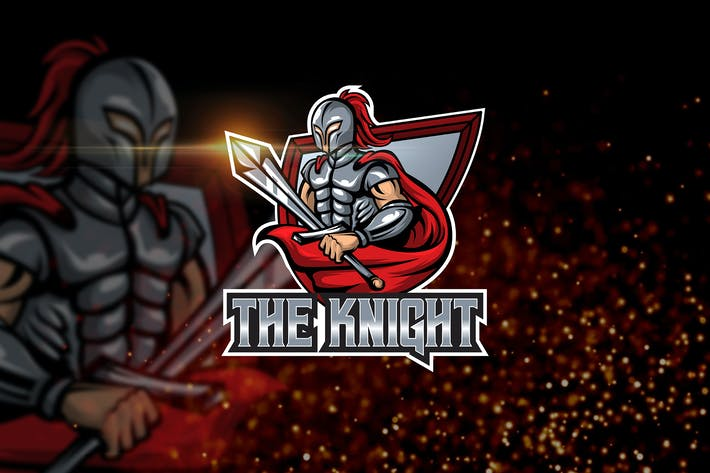 Thumbnail for The Knight - AI and PSD Esport Logo Template