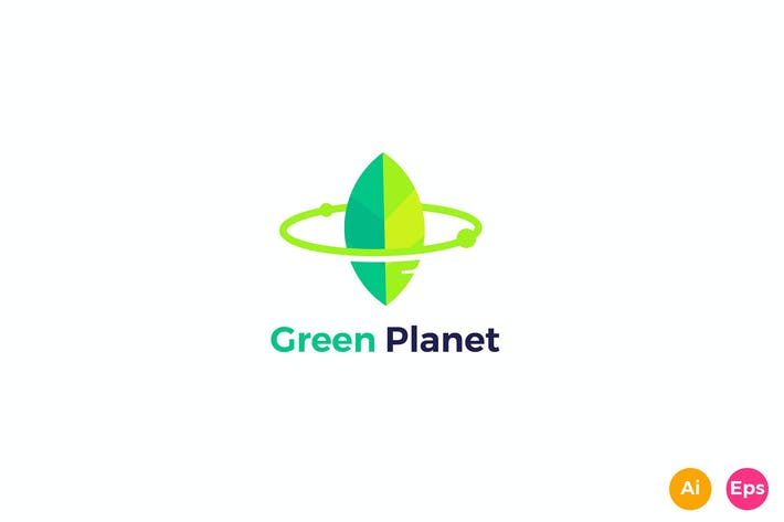 Thumbnail for Green Planet Logo Template