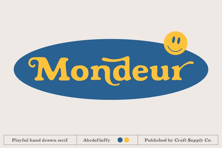 Thumbnail for Mondeur - Playful Hand Drawn Serif