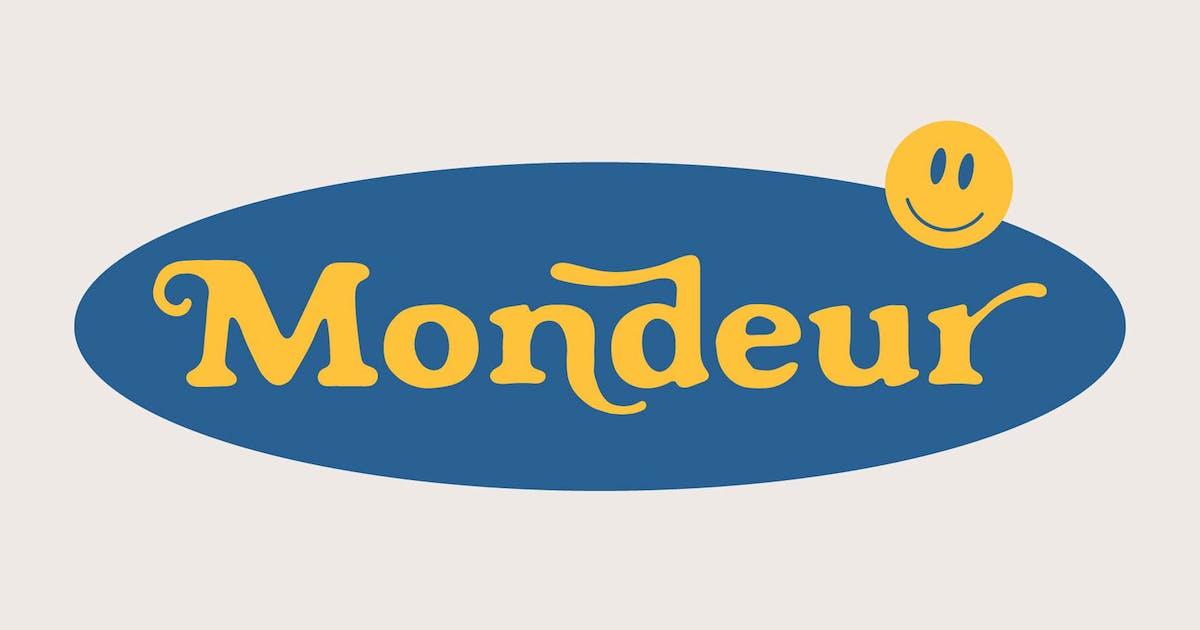 Download Mondeur - Playful Hand Drawn Serif by craftsupplyco