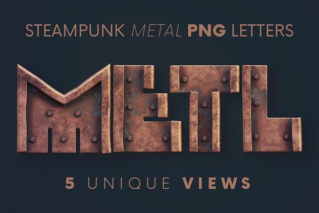 Steampunk Metal - 3D Lettering