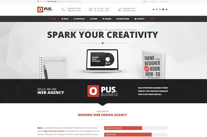Thumbnail for Opus - Multipurpose Business WordPress Theme