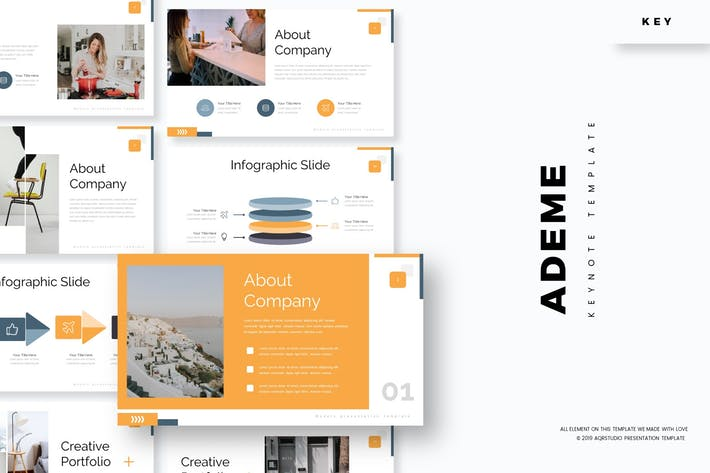 Thumbnail for Ademe - Keynote Template