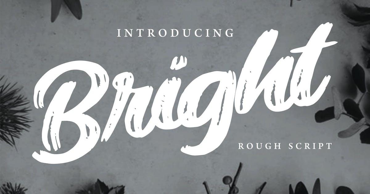 Download Bright | Modern Rough Script Font by Vunira