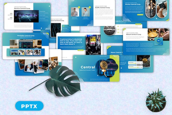 Central  - Cryptocurrency Powerpoint Templates