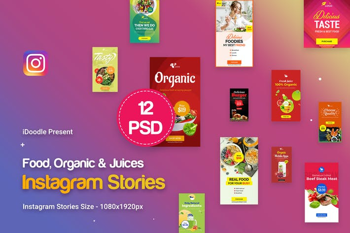 Thumbnail for Food, Organic & Juices Instagram Stories