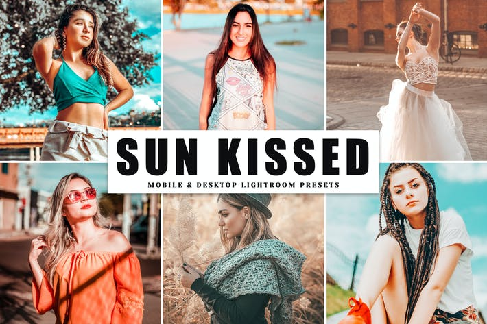 Cover Image For Sun Kissed Mobile & Desktop Lightroom Presets