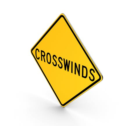 Crosswinds New York State Road Sign