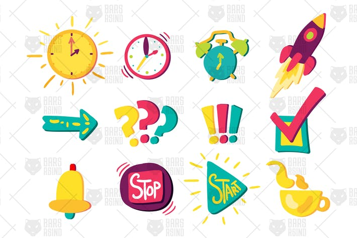 Cover Image For Time Management Signs Set