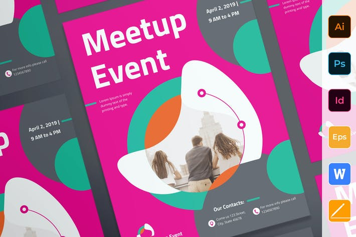 Thumbnail for Meetup Event Poster