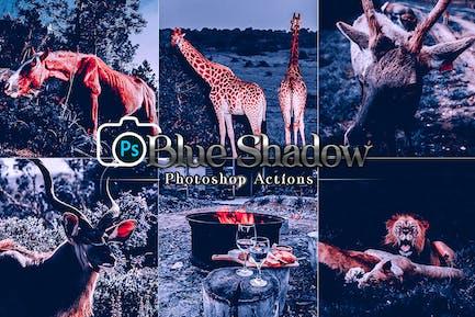 Синяя тень Photoshop