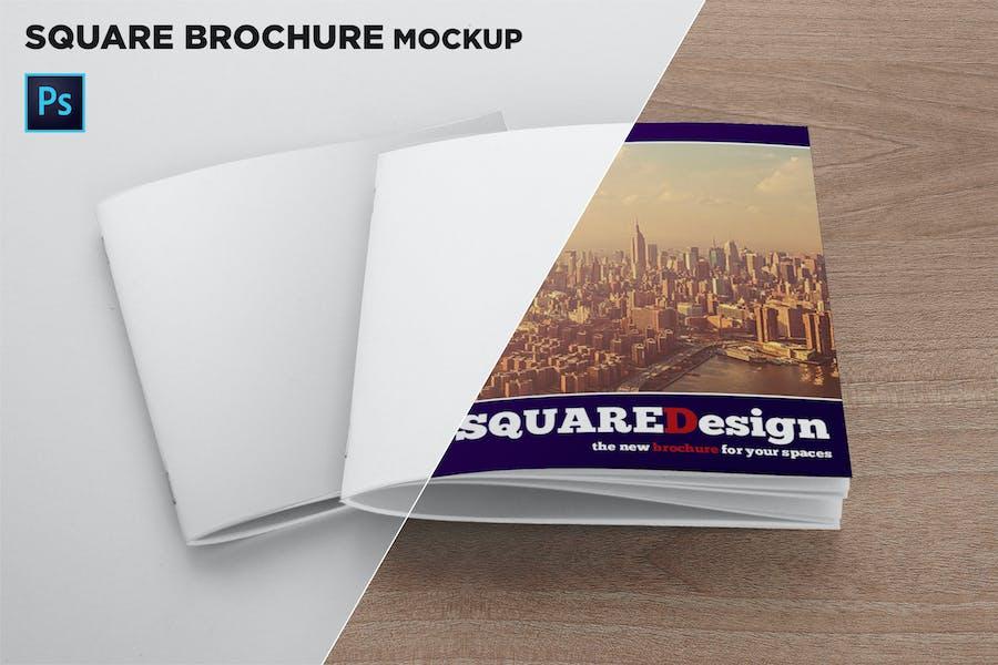 2 Square Covers Brochure Mockup