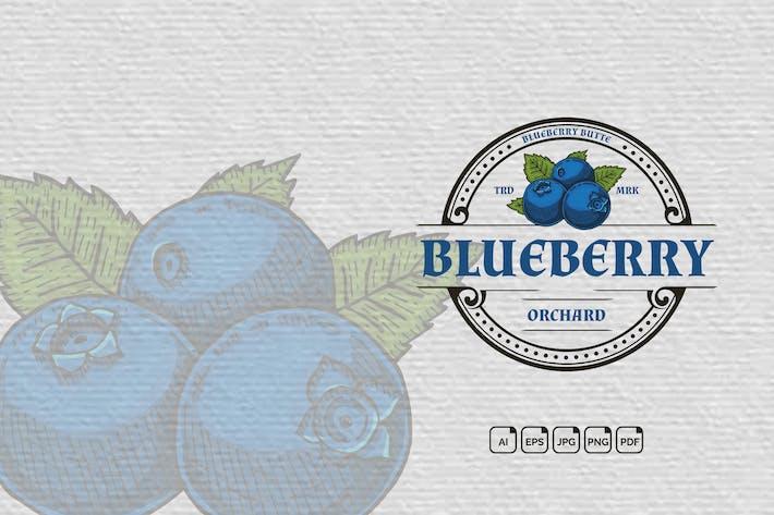 Thumbnail for Blueberry Vintage Handdrawn Logo