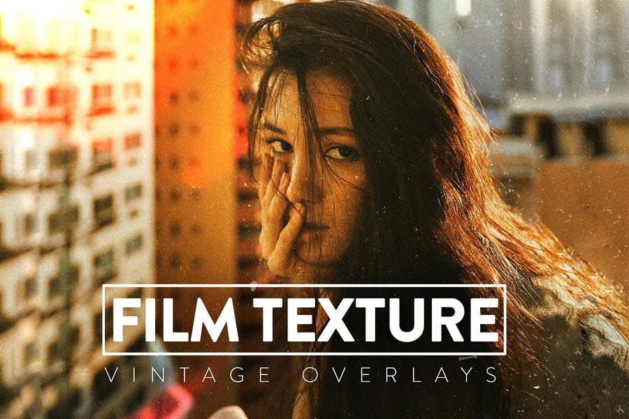 50 Film Grain Textures Overlays