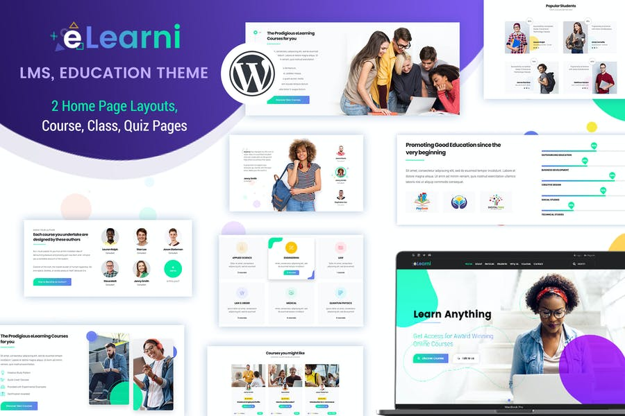 LMS, Online Courses WordPress Theme - eLearni