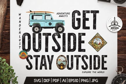 Vintage Camp Badge / Retro Summer Graphic T-Shirt