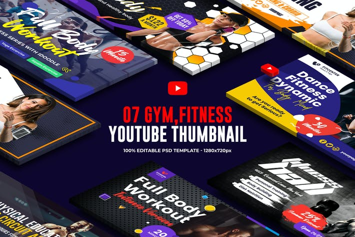Thumbnail for Gym, Fitness Youtube Thumbnail
