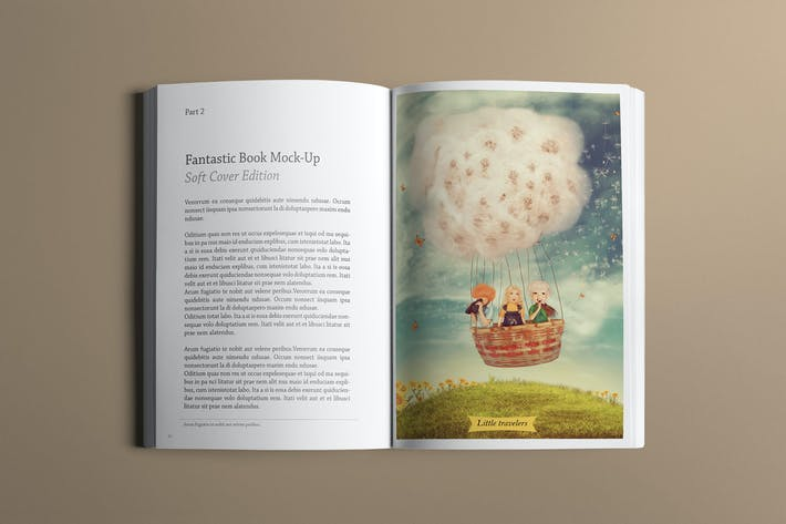 Cover Image For Soft Cover Book Mockup