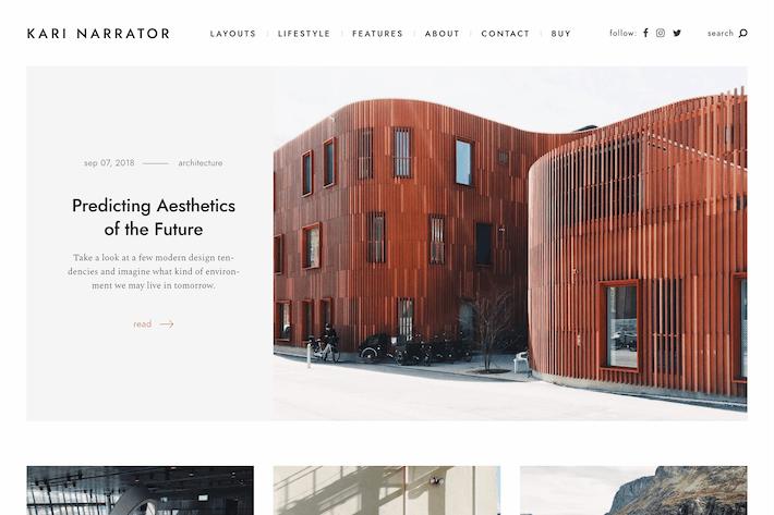 Narrator — A Minimalist WordPress Blogging Theme