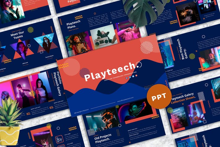 Thumbnail for Playteech - Creative Purpose PowerPoint Template