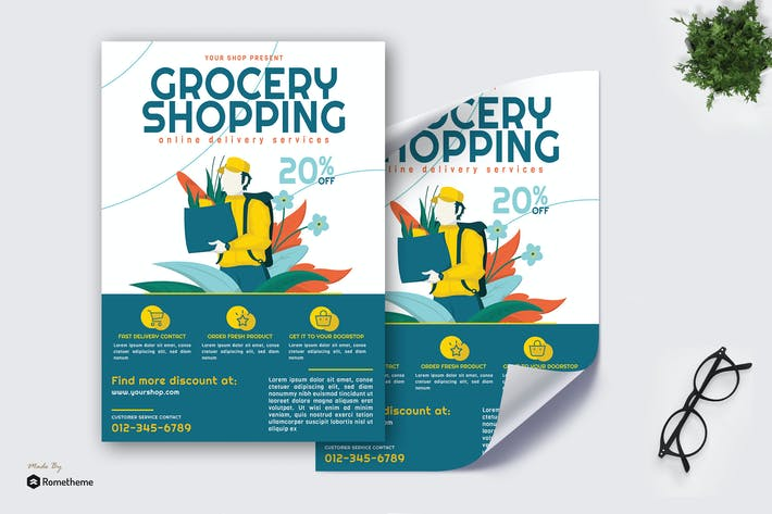 Cover Image For Grocery Online Delivery vol.02 - Poster GR